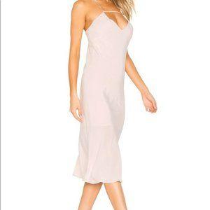 Suboo Amore Light Pink Midi Slip Dress 8 Strappy
